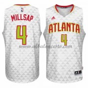 Camisetas Baloncesto NBA Atlanta Hawks 2015-16 Paul Millsap 4# Home..