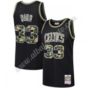 Camisetas Baloncesto NBA Boston Celtics Larry Bird 33# Negro Straight Fire Camo Swingman..
