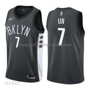 Camisetas Baloncesto Niños Brooklyn Nets 2018 Jeremy Lin 7# Statement Edition..