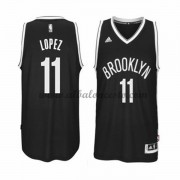Camisetas Baloncesto NBA Brooklyn Nets 2015-16 Brook Lopez 11# Road..