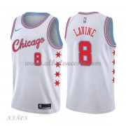 Camisetas Baloncesto Niños Chicago Bulls 2018 Zach Lavine 8# City Edition..
