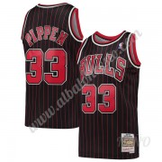 Camisetas NBA Niños Chicago Bulls 1995-96 Scottie Pippen 33# Negro Hardwood Classics Swingman..