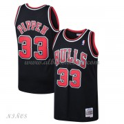 Camisetas Baloncesto Niños Chicago Bulls Kids 1997-98 Scottie Pippen 33# Black Hardwood Classics..