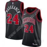 Camisetas NBA Niños Chicago Bulls 2019-20 Lauri Markkanen 24# Negro Finished Statement Edition Swing..
