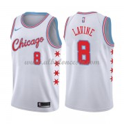 Camisetas Baloncesto NBA Chicago Bulls 2018  Zach Lavine 8# City Edition..