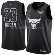 Chicago Bulls Michael Jordan 23# Black 2018 All Star Game Swingman Basketball Jersey..