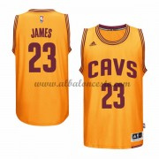 Camisetas Baloncesto NBA Cleveland Cavaliers 2015-16 LeBron James 23# Gold Alternate..