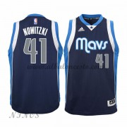 Camisetas Baloncesto Niños Dallas Mavericks 2015-16 Dirk Nowitzki 41# NBA Alternate..