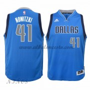 Camisetas Baloncesto Niños Dallas Mavericks 2015-16 Dirk Nowitzki 41# NBA Road