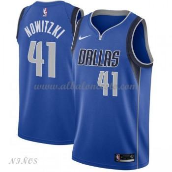 Camisetas Baloncesto Niños Dallas Mavericks 2018 Dirk Nowitzki 41# Icon Edition