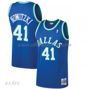 Camisetas Baloncesto Niños Dallas Mavericks Kids 1998-99 Dirk Nowitzki 41# Blue Hardwood Classics..