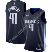 Camisetas NBA Niños Dallas Mavericks 2019-20 Dirk Nowitzki 41# Armada Finished Statement Edition Swi..
