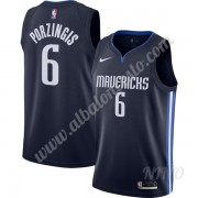 Camisetas NBA Niños Dallas Mavericks 2019-20 Kristaps Porzingis 6# Armada Finished Statement Edition..