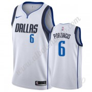 Camisetas NBA Niños Dallas Mavericks 2019-20 Kristaps Porzingis 6# Blanco Association Edition Swingm..