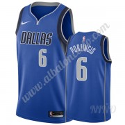 Camisetas NBA Niños Dallas Mavericks 2019-20 Kristaps Porzingis 6# Azul Icon Edition Swingman..