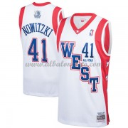 Dallas Mavericks Dirk Nowitzki 41# White 2004 All Star Hardwood Classics Swingman Basketball Jersey..
