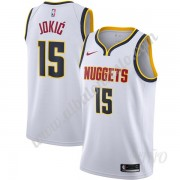 Camisetas NBA Niños Denver Nuggets 2019-20 Nikola Jokic 15# Blanco Association Edition Swingman..