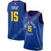 Camisetas Baloncesto NBA Denver Nuggets 2019-20 Nikola Jokic 15# Azul Statement Edition Swingman..