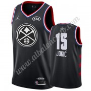Camisetas NBA Baratas Denver Nuggets 2019 Nikola Jokic 15# Negro All Star Game Swingman..