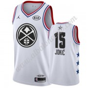 Camisetas NBA Baratas Denver Nuggets 2019 Nikola Jokic 15# Blanco All Star Game Swingman..