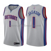 Camisetas Baloncesto NBA Detroit Pistons 2018  Reggie Jackson 1# Statement Edition..