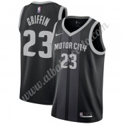 Camisetas Baloncesto NBA Detroit Pistons 2019-20 Blake Griffin 23# Negro City Edition Swingman..