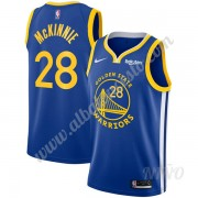 Camisetas NBA Niños Golden State Warriors 2019-20 Alfonzo McKinnie 28# Azul Icon Edition Swingman..