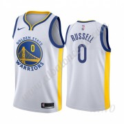 Camisetas NBA Niños Golden State Warriors 2019-20 D'Angelo Russell 0# Blanco Association Edition Swi..