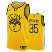 Camisetas NBA Niños Golden State Warriors 2019-20 Kevin Durant 35# Oro Earned Edition Swingman..