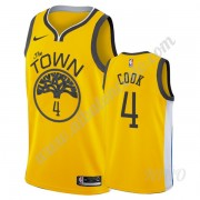 Camisetas NBA Niños Golden State Warriors 2019-20 Quinn Cook 4# Oro Earned Edition Swingman..