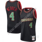 Camisetas NBA Niños Golden State Warriors 1993-94 Chris Webber 4# Negro Hardwood Classics Swingman..