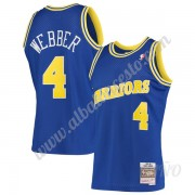 Camisetas NBA Niños Golden State Warriors 1993-94 Chris Webber 4# Azul Hardwood Classics Swingman..
