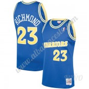 Camisetas NBA Niños Golden State Warriors 1990-91 Mitch Richmond 23# Azul Hardwood Classics Swingman..