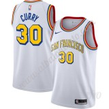 Camisetas NBA Niños Golden State Warriors Stephen Curry 30# Blanco Finished Hardwood Classics Swingman