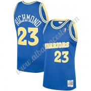 Camisetas Baloncesto NBA Golden State Warriors 1990-91 Mitch Richmond 23# Azul Hardwood Classics Swi..