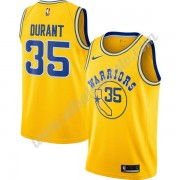 Camisetas Baloncesto NBA Golden State Warriors 2019-20 Kevin Durant 35# Oro Hardwood Classics Swingm..