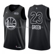 Golden State Warriors Draymond Green 23# Black 2018 All Star Game Swingman Basketball Jersey..