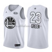 Golden State Warriors Draymond Green 23# White 2018 All Star Game Swingman Basketball Jersey..