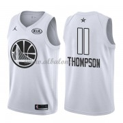 Golden State Warriors Klay Thompson 11# White 2018 All Star Game Swingman Basketball Jersey..