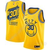 Camisetas NBA Niños Golden State Warriors 2019-20 Stephen Curry 30# Amarillo Finished Hardwood Classics Swingman