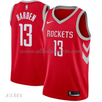 Camisetas Baloncesto Niños Houston Rockets 2018 James Harden 13# Icon Edition