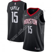 Camisetas Baloncesto NBA Houston Rockets 2019-20 Clint Capela 15# Negro Statement Edition Swingman..