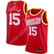 Camisetas Baloncesto NBA Houston Rockets 2019-20 Clint Capela 15# Rojo Finished Hardwood Classics Sw..