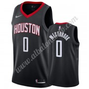 Camisetas Baloncesto NBA Houston Rockets 2019-20 Russell Westbrook 0# Negro Statement Edition Swingm..