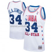 Houston Rockets Hakeem Olajuwon 34# White 1989 All Star Hardwood Classics Swingman Basketball Jersey..