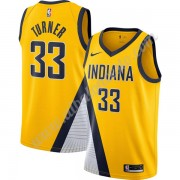 Camisetas Baloncesto NBA Indiana Pacers 2019-20 Myles Turner 33# Oro Finished Statement Edition Swin..