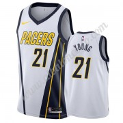 Camisetas Baloncesto NBA Indiana Pacers 2019-20 Thaddeus Young 21# Blanco Earned Edition Swingman..