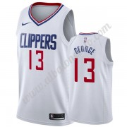 Camisetas Baloncesto NBA Los Angeles Clippers 2019-20 Paul George 13# Blanco Association Edition Swi..