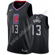 Camisetas Baloncesto NBA Los Angeles Clippers 2019-20 Paul George 13# Negro Statement Edition Swingm..