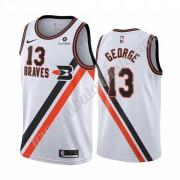 Camisetas Baloncesto NBA Los Angeles Clippers 2019-20 Paul George 13# Blanco Classics Edition Swingm..